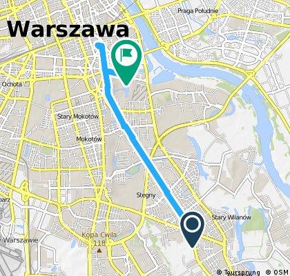 bike tour through Warszawa