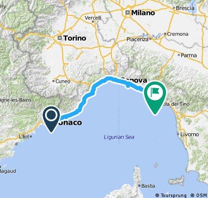 Menton-Genoa-Paraggi-Manarola-Porto Venere
