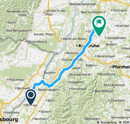 Glottertal - Gundelsheim 2. Tag