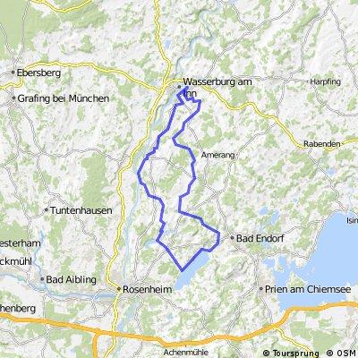 Wasserburg-Simsee-Runde