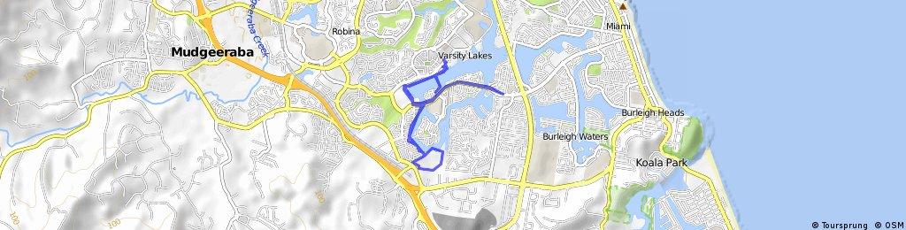 ride through Varsity Lakes