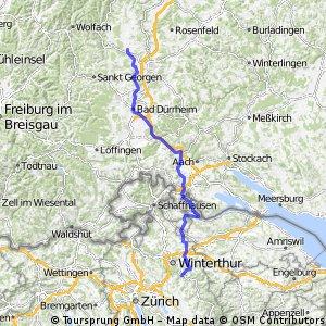 Seedorf (D) to Kollbrunn-Winterthur (CH)