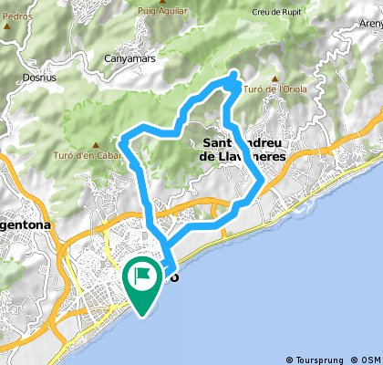 ride through Mataró