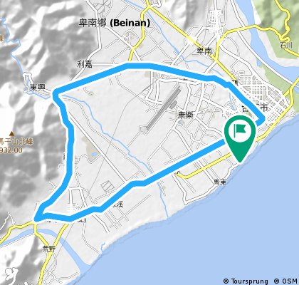 Long ride through 台東市