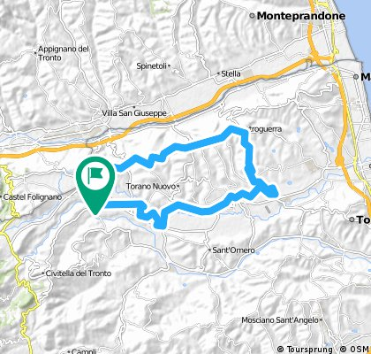 Lengthy bike tour from 14 maggio 08:46