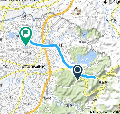 bike tour through 白河區