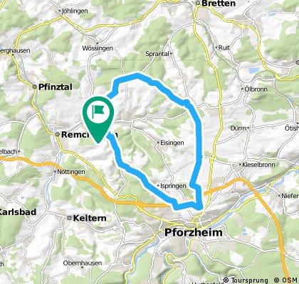 Königsbach - Pforzheim - Göbrichen - Kö