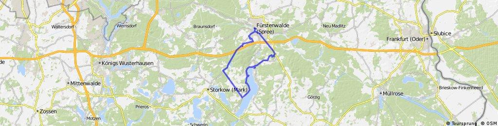 Arosa Tour Über Fürstenwalde, Wendisch Ritz