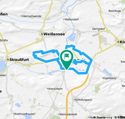 ab Tunzenhausen-Weißenburg bei (Sömmmerda) unbefestigten Weg😕