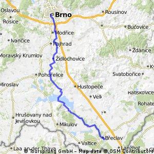 Brno - Židlochovice - Dolní Věstonice - Lednice - Břeclav