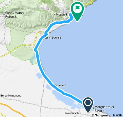Long ride from Margherita di Savoia to Mattinata