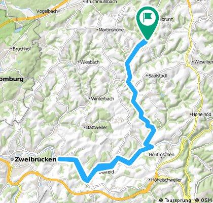 Long ride through Mittelbrunn