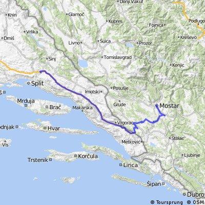 Split- Kravice - Herceg ethno selo - Buna-Mostar