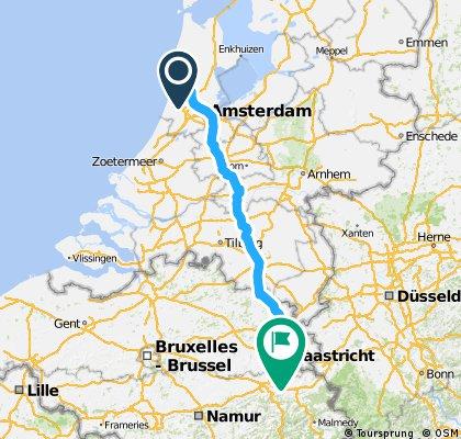 Castricum - Amstedam - Maastricht