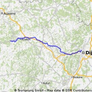 6. Von Dijon nach Vezelay