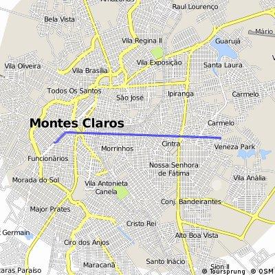 Brief bike tour through Montes Claros