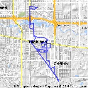 Lengthy bike tour through Highland