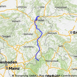 Obersinn-SLÜ-Fulda-Bad Hersfeld-Kassel-Hann.Münden