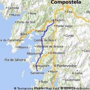 RR 2016   Spanien – Portugal     Etappe 1 b   -  Padron → Sanxenxo