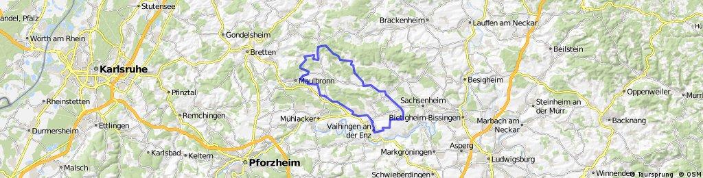 Vaihingen-Sersheim-Horrheim-Häfnerhaslach-Diefenbach-Maulbronn-Illingen-Vaihingen