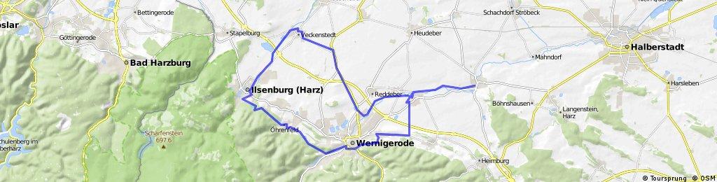 Derenburg-Ilsenburg-Wernigerode-Derenburg