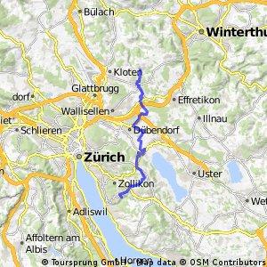 Radrunde von Chrüzstrass nach Küsnacht (ZH)