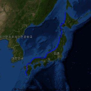 日本列島橫斷