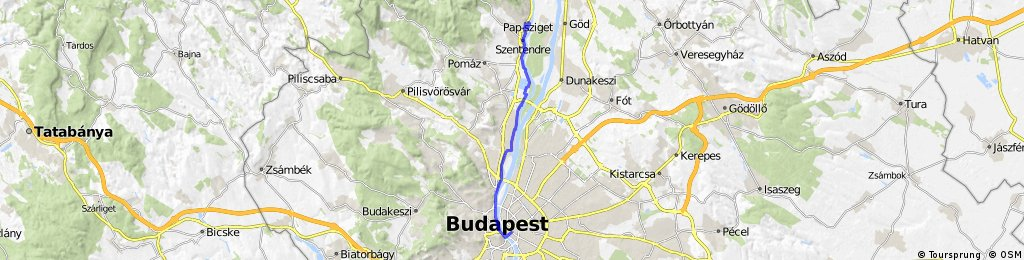 Visit Budapest and/or Szentendre by bike