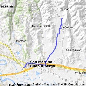bike tour from San Martino Buon Albergo to Tregnago