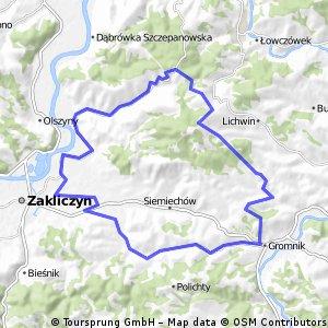 Gromnik-Zagórze-Zakliczyn-Gromnik 37 km