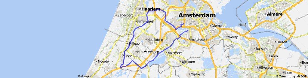 Vijfhuizen - Hillegon - Aalsmeer - schipol oost