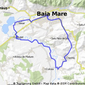 Lengthy bike tour from Săsar to Pastviny