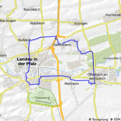 Ausfahrt durch Landau in der Pfalz