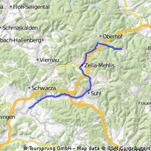 Erfurt-Waldcasino (2. Teil des Rückweges ab Gehlberger Grund)
