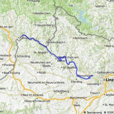 Passau - Ottensheim (nur Donauradweg)