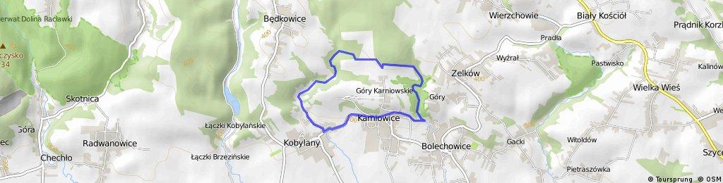 Karniowice - dolina Bolechowicka - dolina Kobylańska - Karniowice