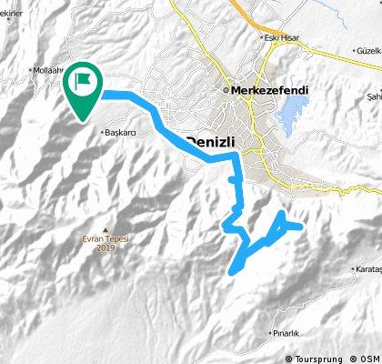 Pamukkale Bisiklet Derneği 2016 (Son) 1. Gün Fesival Rotası