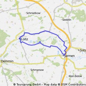 2016 - Sophienhof - Alt Plestin - Bentzin - Jarmen - Trissow - Trantow - Loitz