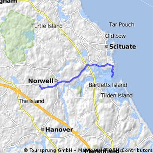 ride from Scituate to Norwell