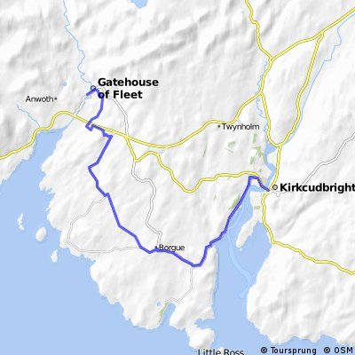St Ninian's Way- Kirkcudbright to Gatehouse of Fleet