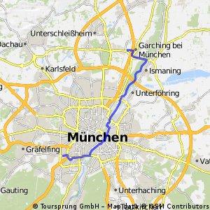 München-Westpark nach Garching-Hochbrück