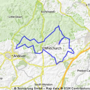 Overton - St Mary Bourne - Smannell - Hurtsbourne Priors - Laverstoke Lane - Steventon