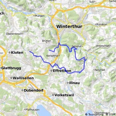 Lange Radrunde von Chrüzstrass nach Lindau
