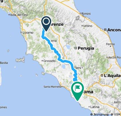 Florence to Rome (through Siena)