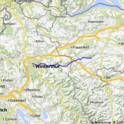 Arbeitsweg Koni Weingarten-Winterthur