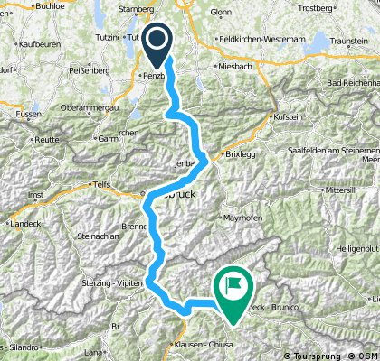 Rennrad: Geretsried - Gais (Italien)