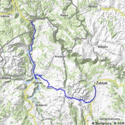 Montenegro 1. nap: Razvrsje - Durmitor Nemzeti Park - Piva-kanyon - Scepan Polje