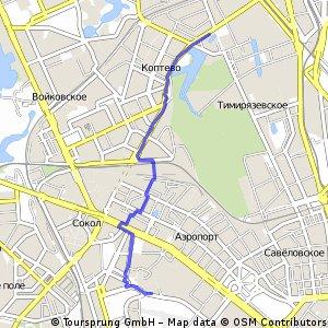 Short bike tour through Москва