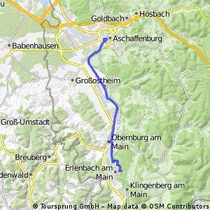 Erlenbach nach Aschaffenburg/ MainGolf