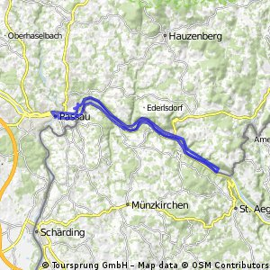 Grubweg - Jochenstein - Grubweg (IUZS, über Passau)